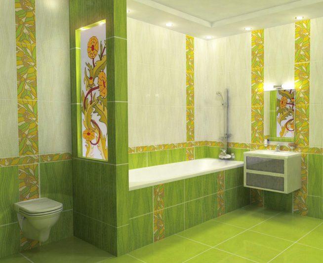 Интерьер ванной комнаты в частном доме