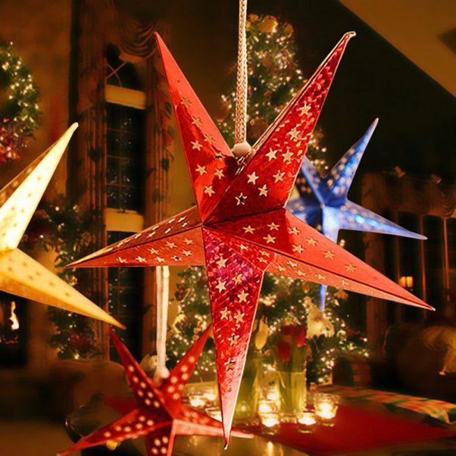 Декоративные подвесные звёзды