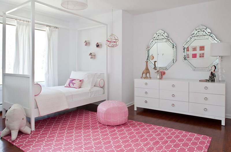 Дизайн интерьера уютной детской комнатки для девочки