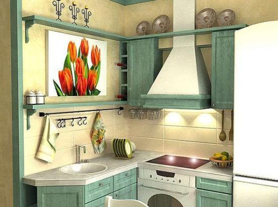 Дизайн маленькой кухни в стиле Кантри