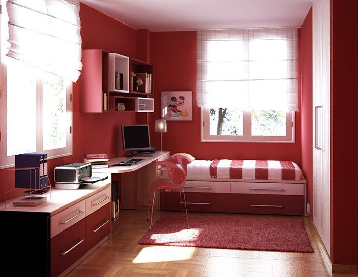 Яркие цвета в дизайне интерьера комнаты дочери