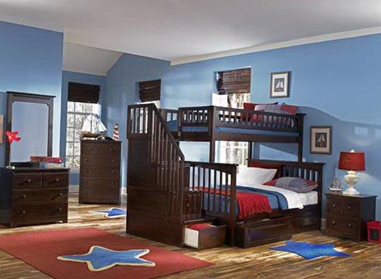 Дизайн детской в одной цветовой гамме с общим интерьером квартиры