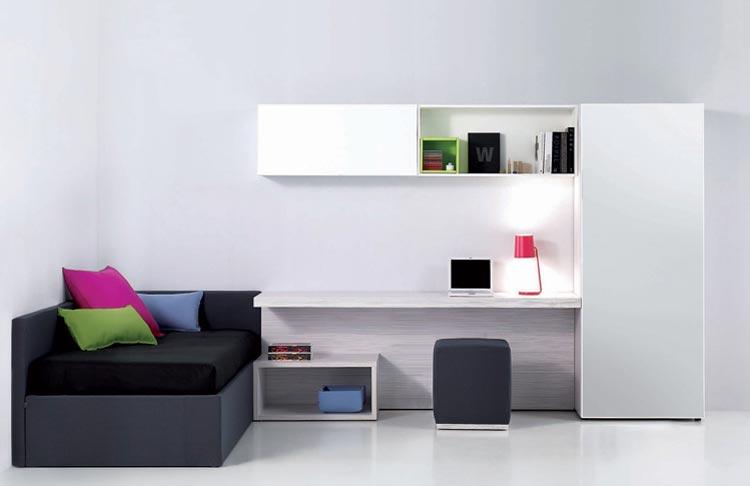 В дизайне комнате для юноши используется стиль минимализма
