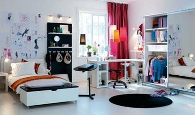 Дизайн комнаты юноши расположен к приему гостей