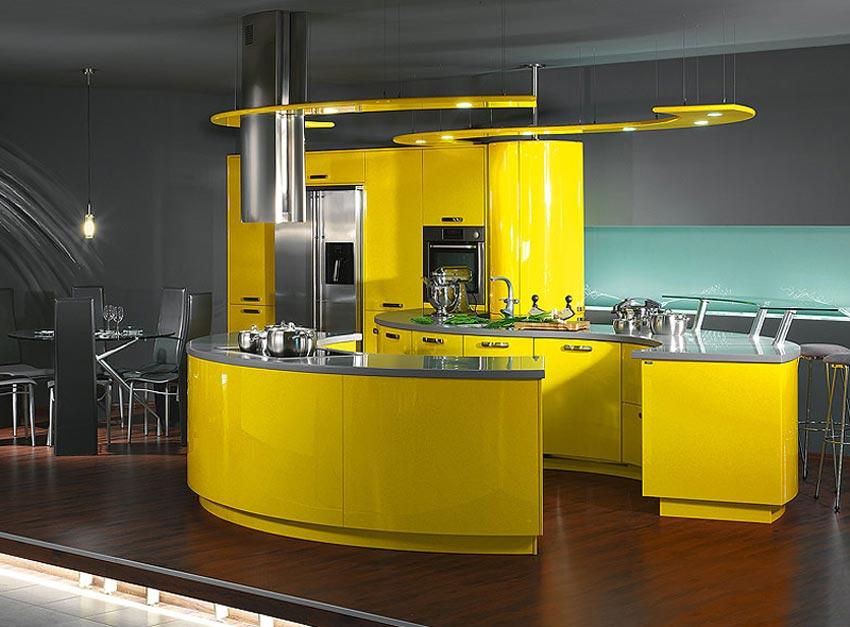 Стиль хай-тек воплощенный в дизайне кухни