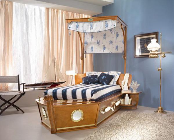 Дизайн комнаты в голубых оттенках