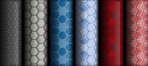 Фото пример обоев с шестиугольным узором