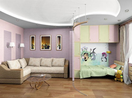 Дизайн интерьера квартиры с детской