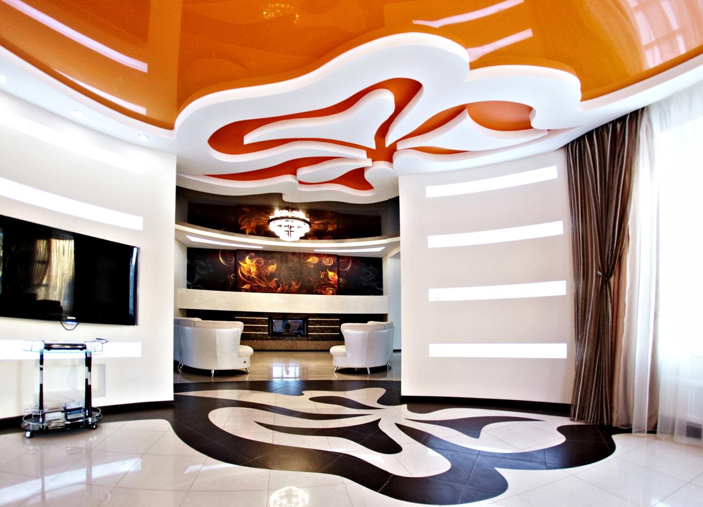 Дизайн различных не стандартных решений в оформлении потолка