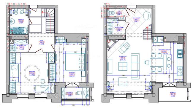 Расстановка мебели в проекте квартиры
