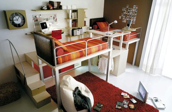 Детская комната в смешанном стиле в трёхкомнатной квартире