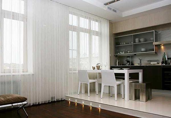 Как и в каком дизайне лучше всего использовать белые шторы