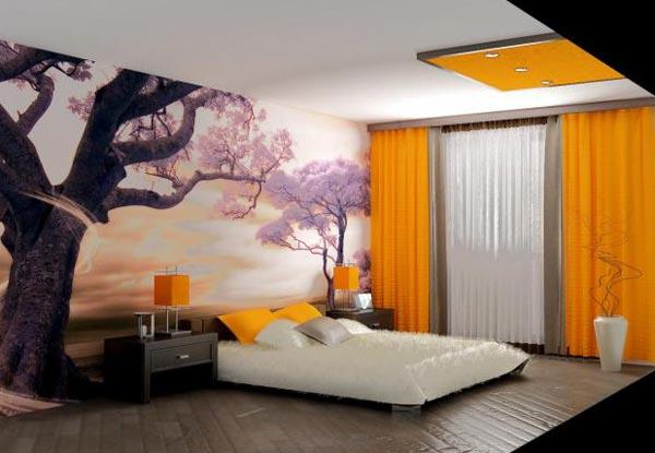 Интерьер спальной комнаты 15 м. кв.