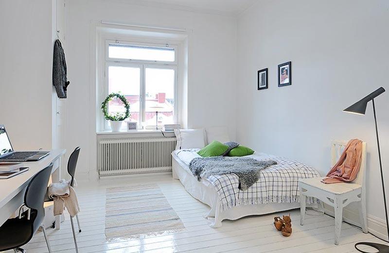 Еще один вариант скандинавского стиля в интерьере детской комнаты