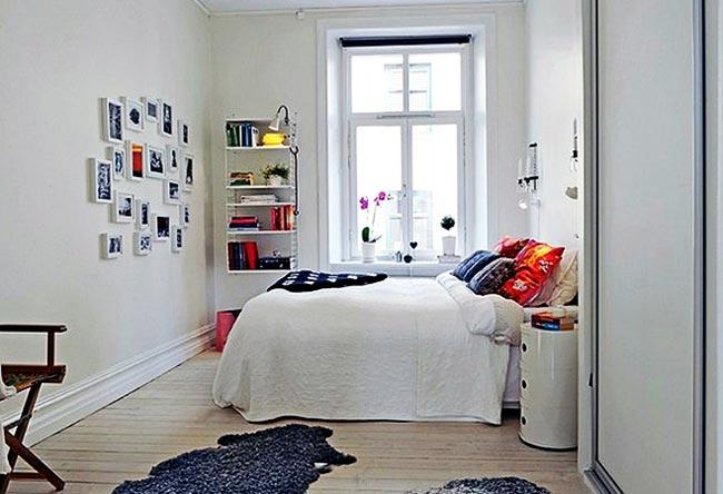 Фотографии на стене в интерьере детской спальни