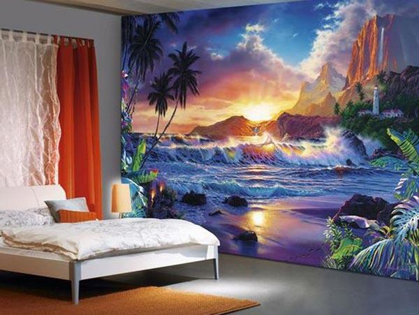 Дизайн интерьера спальни со сказочным видом