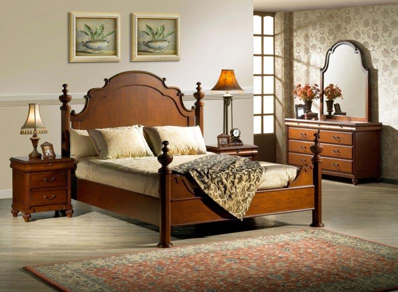 Мебель из дуба в интерьере спальни