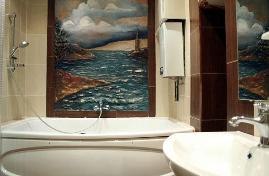 Дизайн необычной ванной комнаты