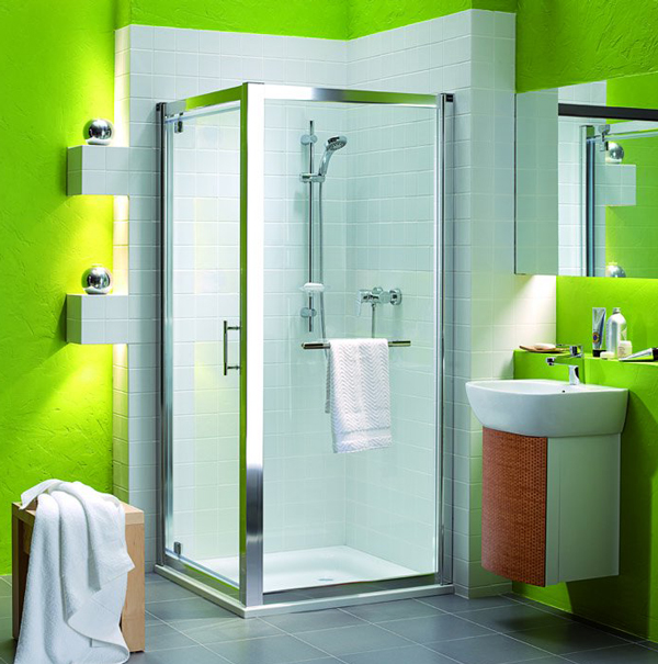 Стиль Модерн в ванной комнате совмещенной с туалетом