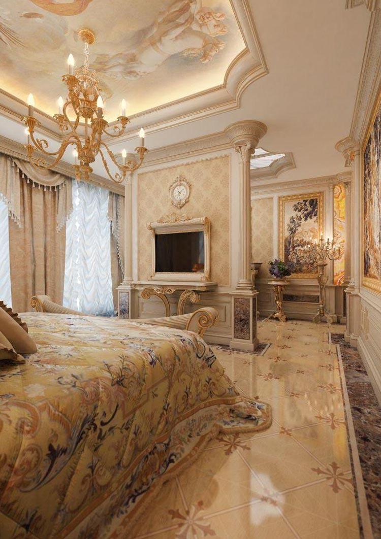 Интерьер гостиной комнаты совмещенной со спальней