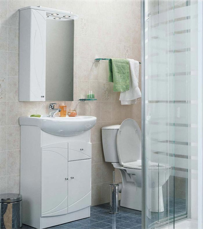 Дизайн душевой кабинки в интерьере маленькой ванной комнаты