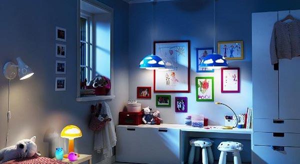 Освещение ночью в детской комнате
