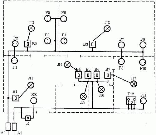Схема розеток в дизайн проекте