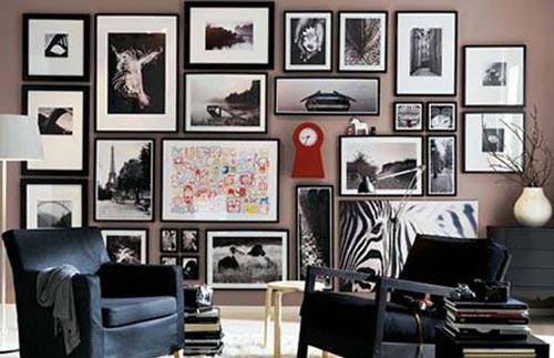 Картины в интерьере гостиной по американской методике