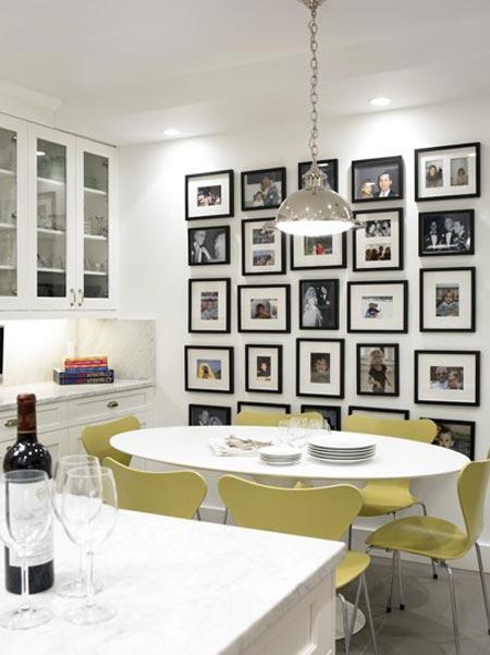 Фото картины в американском стиле в интерьере кухни столовой
