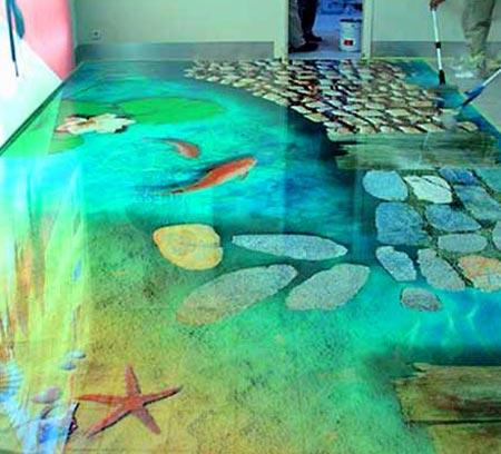 Дизайн морского наливного пола