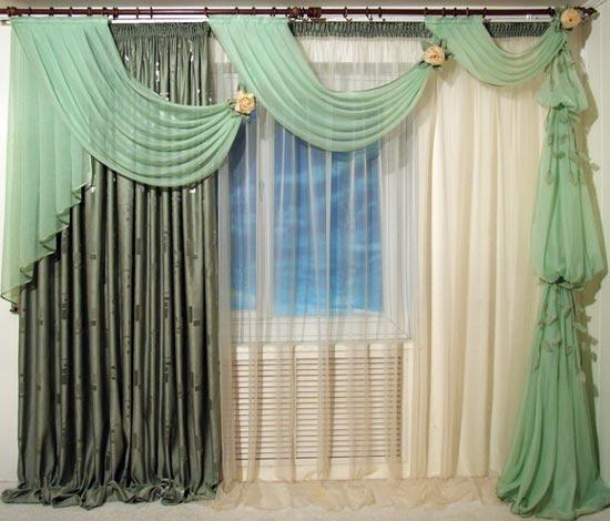 Комбинирование стилей штор в дизайне квартиры