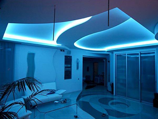 Дизайн интерьера с применением диодов