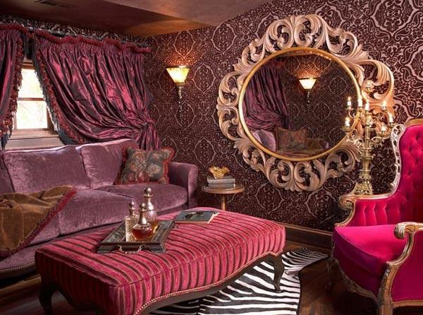 Стиль рококо в интерьере гостиной