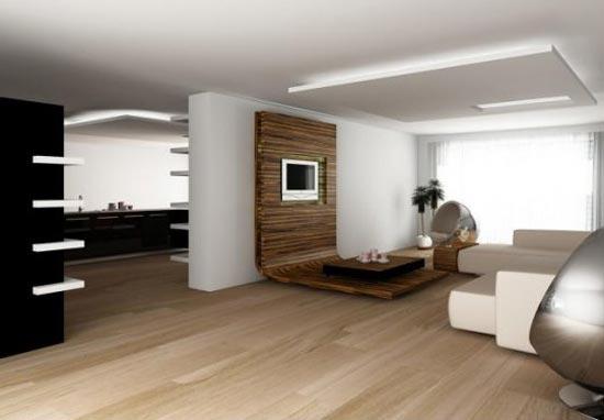 Стиль хай-тек в интерьере гостиной