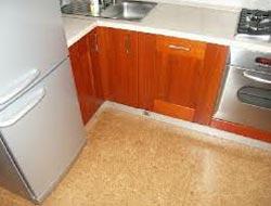 Полу коммерческий линолеум на кухне