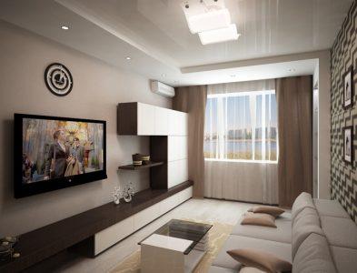 Дизайн гостиной 20 кв. м.