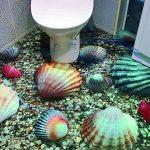 Наливной пол 3d в ванной комнате