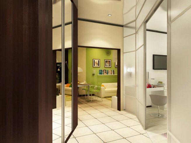 коридор в однокомнатной квартире дизайн фото вкуса