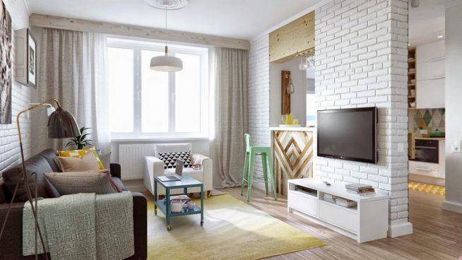 Дизайн-проект комнаты с зонированием