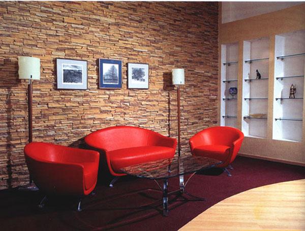 искусственный камень, облицовка стен, ремонт стен, дизайн гостиной, дизайн квартиры