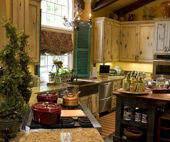 дачная кухня, деревенская кухня, деревянная дачная кухня