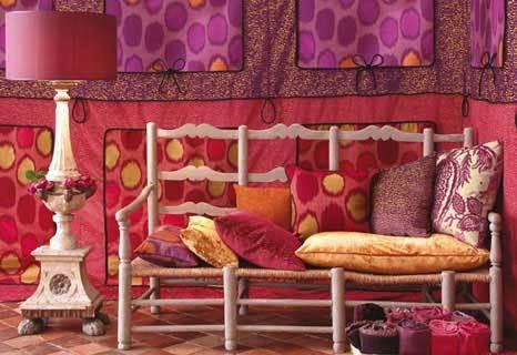 яркий интерьер, восточный стиль, яркий интерьер, комната отдыха, восточный интерьер