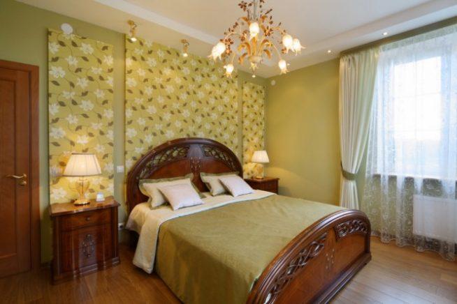 Пример двухуровневого потолка в спальне