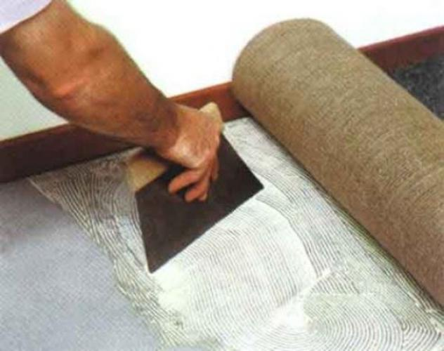 Укладка ковролина клеевым способом