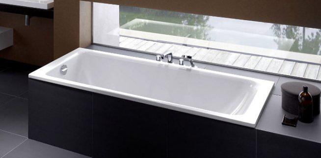 Современная эмалированная ванна