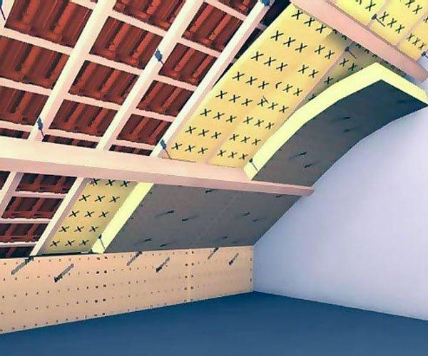 Утепление крыши пенопластом в разрезе