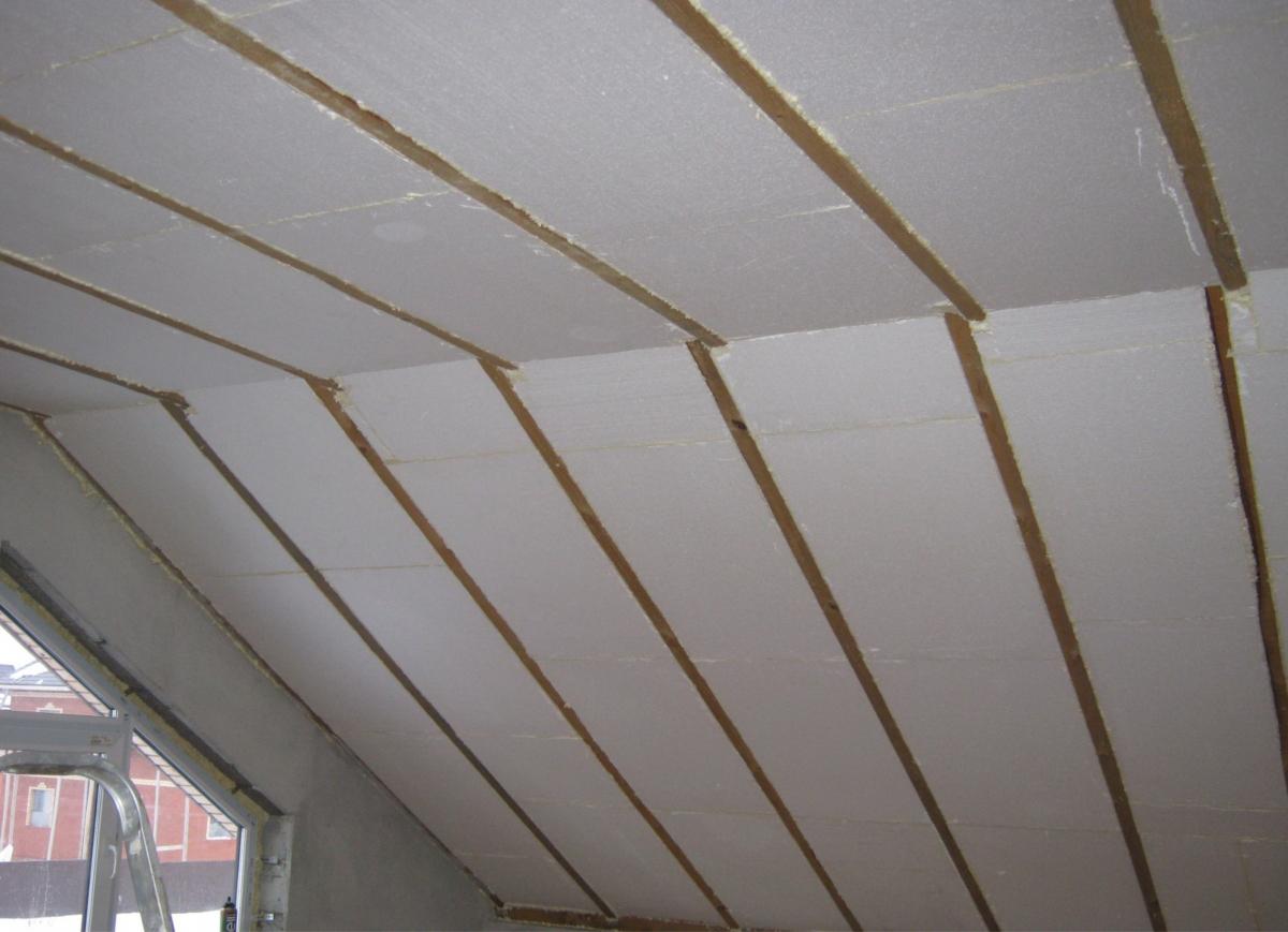 Крыша, утеплённая пенопластом
