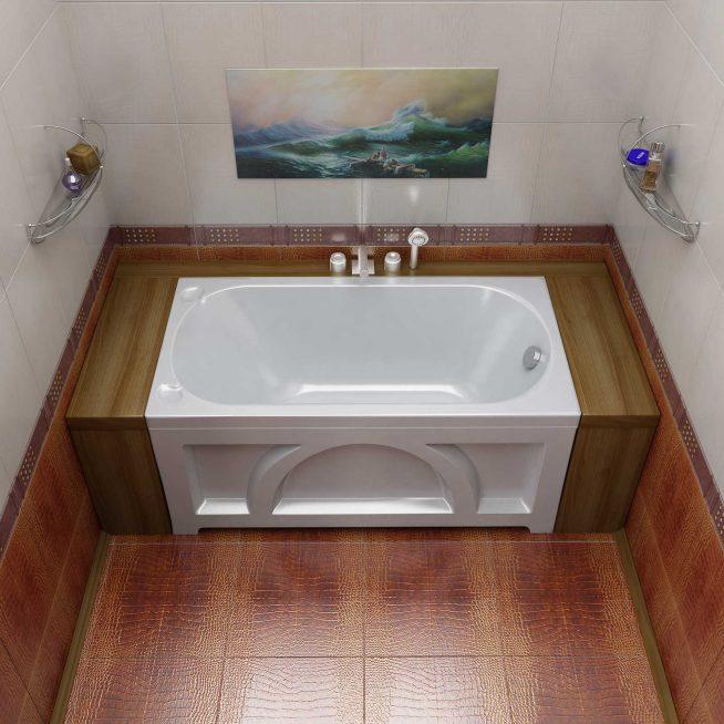 Размещение акриловой ванны