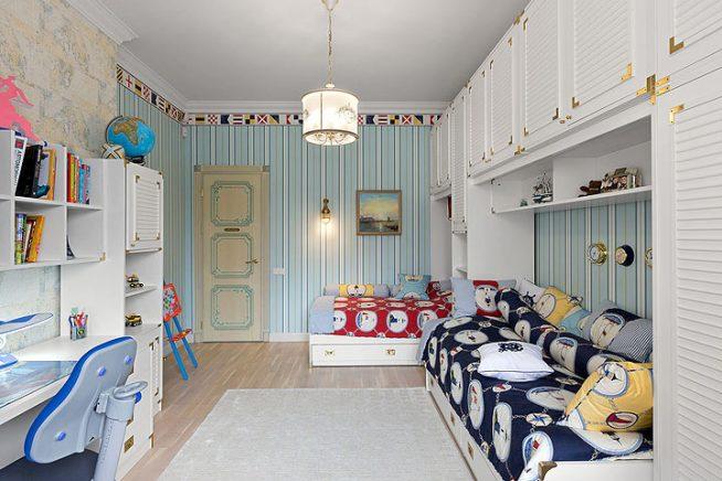 Интерьер детской комнаты для школьника