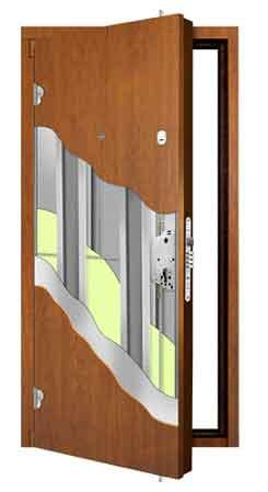 Бронированная дверь в разрезе